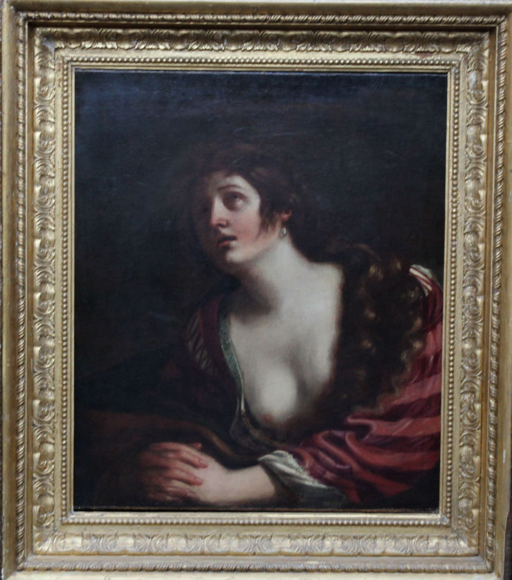 The Penitent Magdalene Old Master by Guercino at Richard Taylor Fine Art