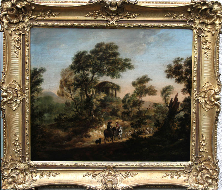 Moving the Flock by Thomas Gainsborough (circle) British landscape at Richard Taylor Fine Art