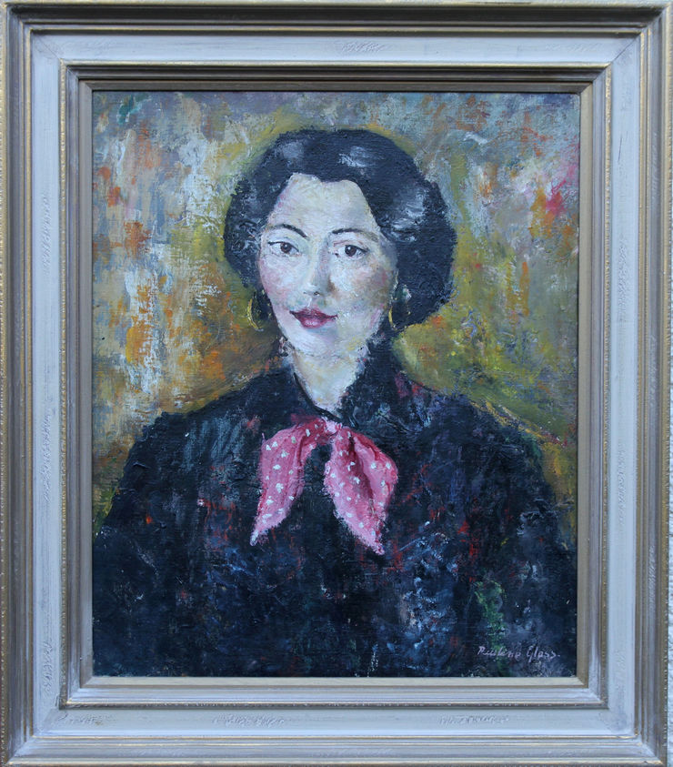 Post Impressionist portrait oil painting by Pauline Glass at Richard Taylor Fine Art