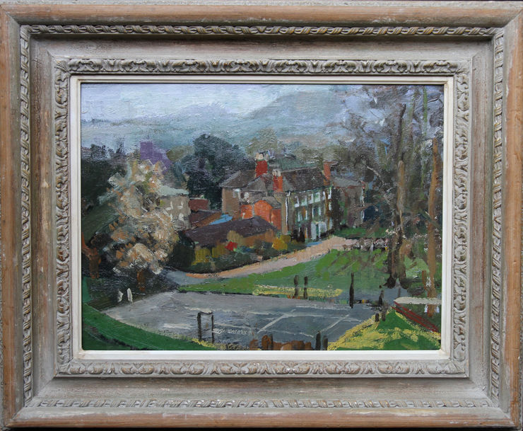 Hamme House British Impressionist exhibited oil by Percy Horton at Richard Taylor Fine Art