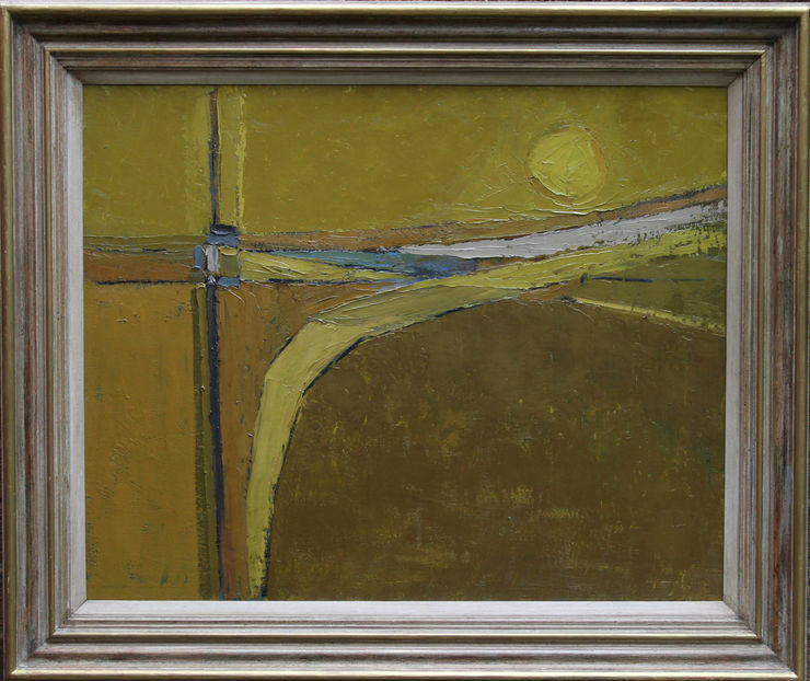 British Abstract Landscape by Peter L Field  at  Richard Taylor Fine Art