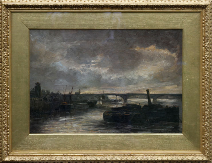 Thames at Battersea London by Philip F Walker at Richard Taylor Fine Art