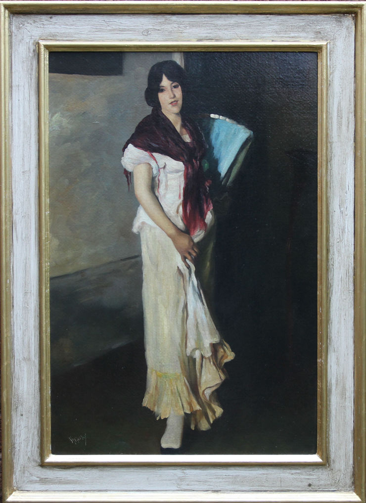 1930's Portrait of a Lady by Philip Naviasky at Richard Taylor Fine Art
