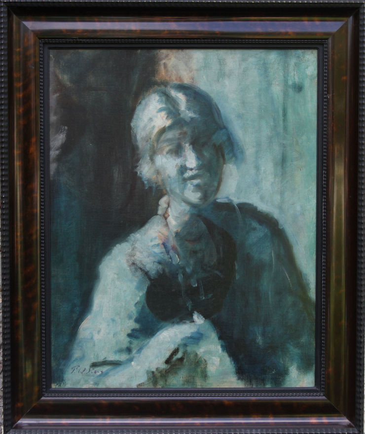 Blue Period Portrait of a Lady by Philip Wilson Steer at Richard Taylor Fine Art