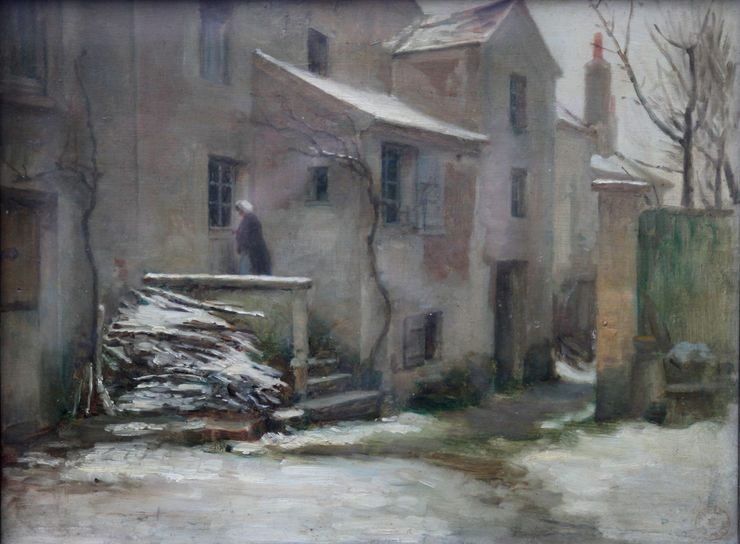 Pierre Edouard Frere - A Winter Courtyard