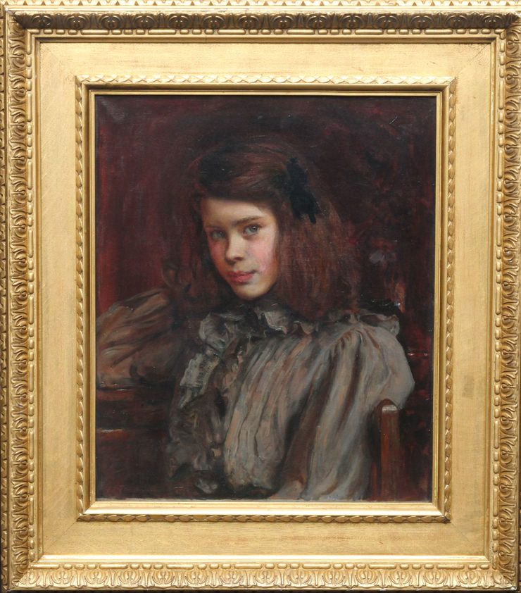Margaret Griselda Wedderburn Victorian Portrait by Ralph Peacock at Richard Taylor Fine Art
