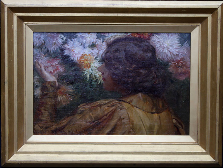 Surrounded by Flowers Victorian oil  by Robert Payton Reid at  Richard Taylor Fine Art