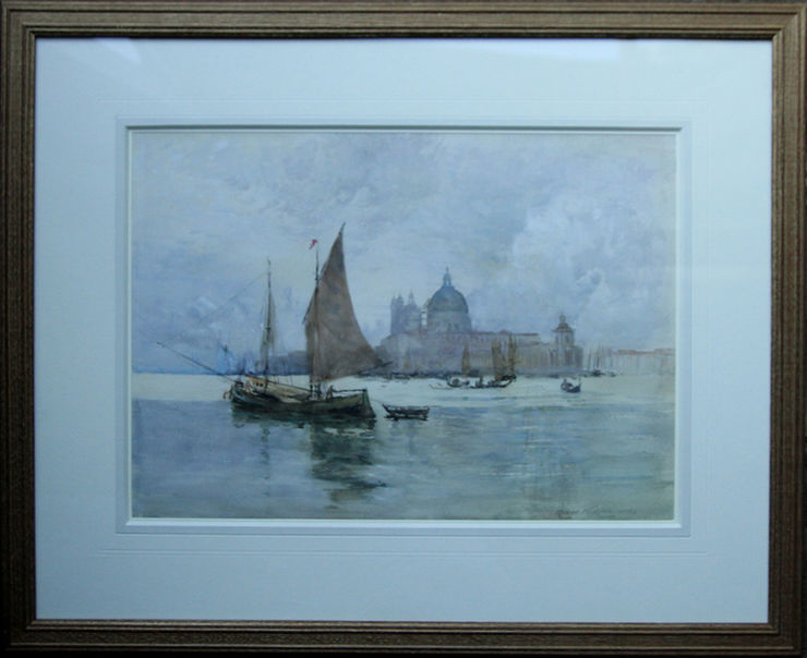 Venice Lagoon Scottish watercolour by Robert Weir Allan at Richard Taylor Fine Art