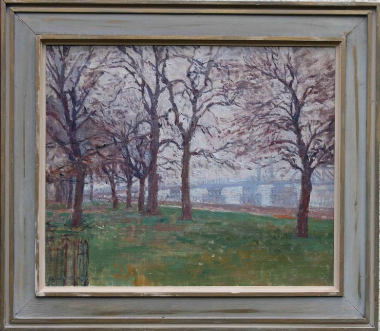 Battersea Park by Euston Road artist Rupert Shepherd at Richard Taylor Fine Art