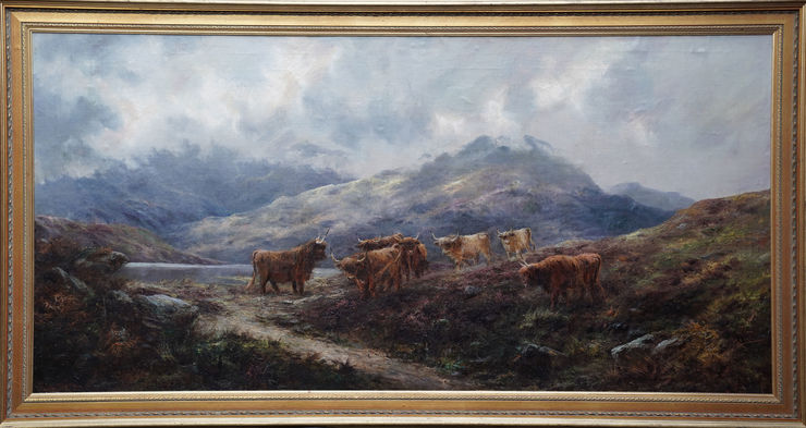 British Victorian Highland Landscape by Samuel John Barnes at Richard Taylor Fine Art
