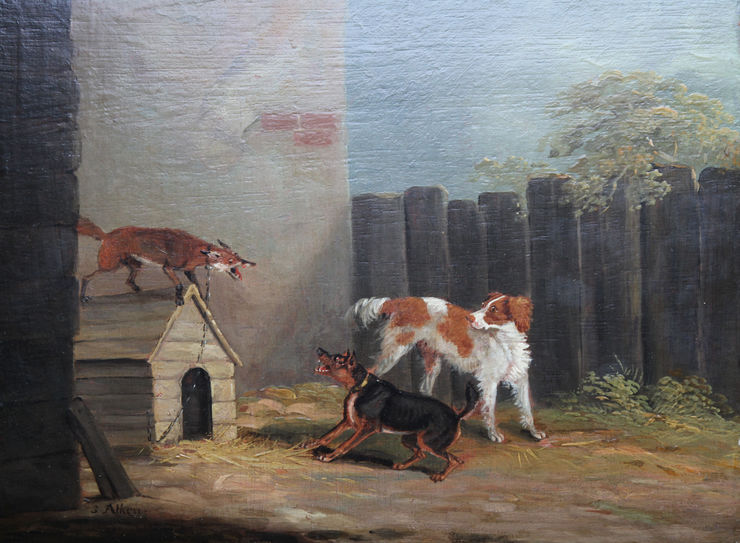samuel alken - sporting dogs -richard taylor fine art