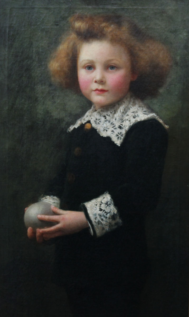 Young Boy Victorian Oil Portrait by Samuel G Enderby Richard Taylor Fine Art