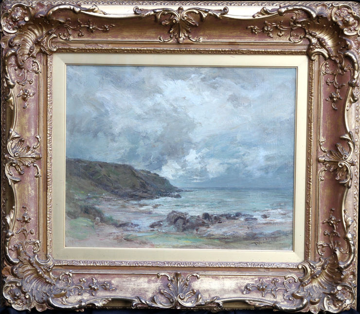 Scottish Machrihanish Seascape by Sir Charles James Lawton Wingate at Richard Taylor Fine Art