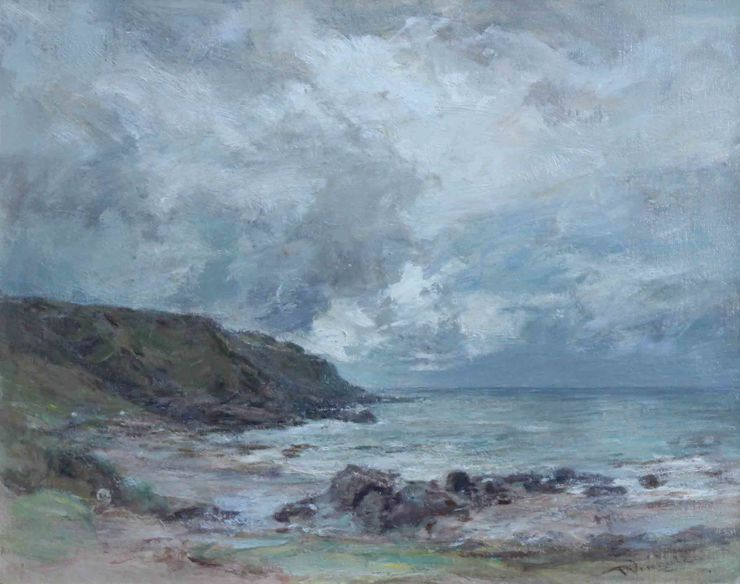 Machrihanish Seascape by Sir Charles James Lawton Wingate Richard Taylor Fine Art