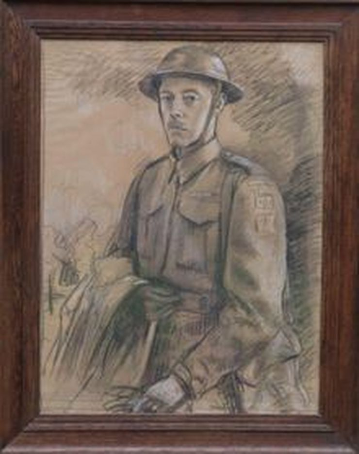 Young Soldier WWII Home Guard by Stefani Melton Fisher at Richard Taylor Fine Art
