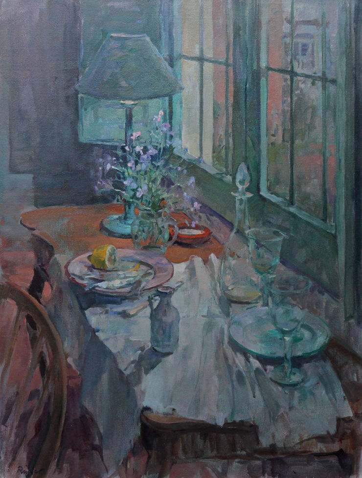 Still Life with Fish on Plate by Susan Ryder Richard Taylor Fine Art