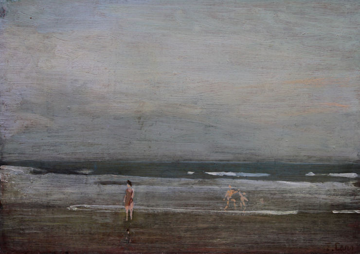thomas carr - bathers on seashore richard taylor fine art