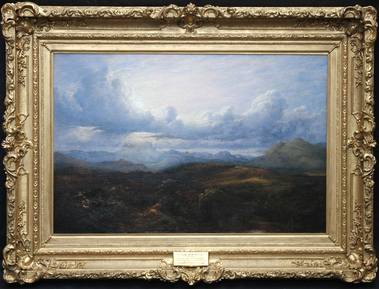 Scottish Landscape Stirling from the East by Waller Hugh Paton at Richard Taylor Fine Art