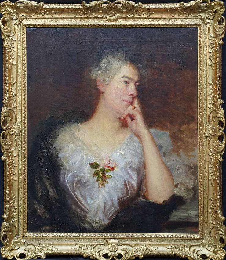 Old Master Portrait of a Lady by William Etty (circle) at Richard Taylor Fine Art