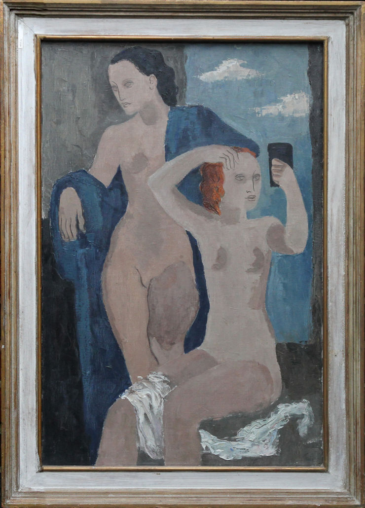 Two Nudes British 50's art by William S Taylor at Richard Taylor Fine Art