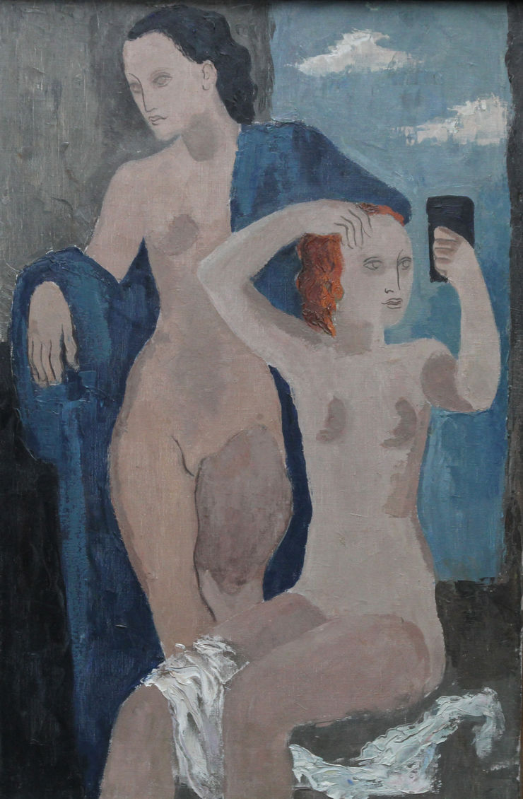 Two Nudes Portrait by William S Taylor Richard Taylor Fine Art