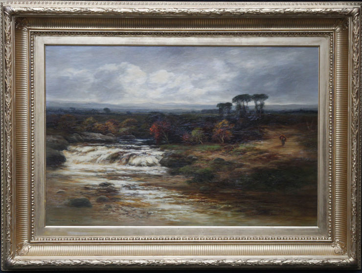 Victorian Scottish River Dulnain Landscape by William Beattie Brown at Richard Taylor Fine Art