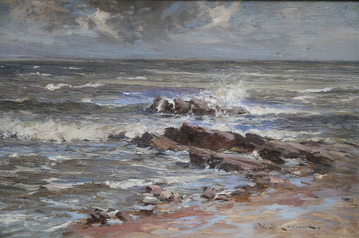 Scottish Seascape by William Bradley Lamond Richard Taylor Fine Art