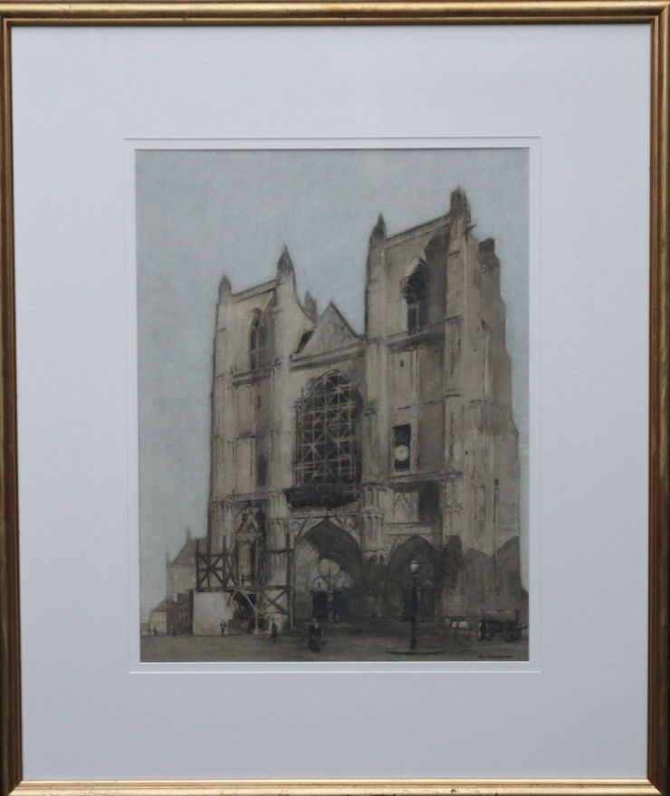 Cathedral Watercolour by William Leendert available at Richard Taylor Fine Art