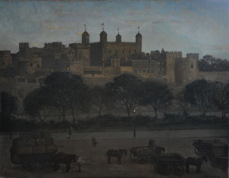 Tower of London Post Impressionist oil by William Dacre Adams Richard Taylor Fine Art
