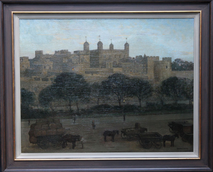Tower of London British Nocturne by William Dacre Adams at Richard Taylor Fine Art