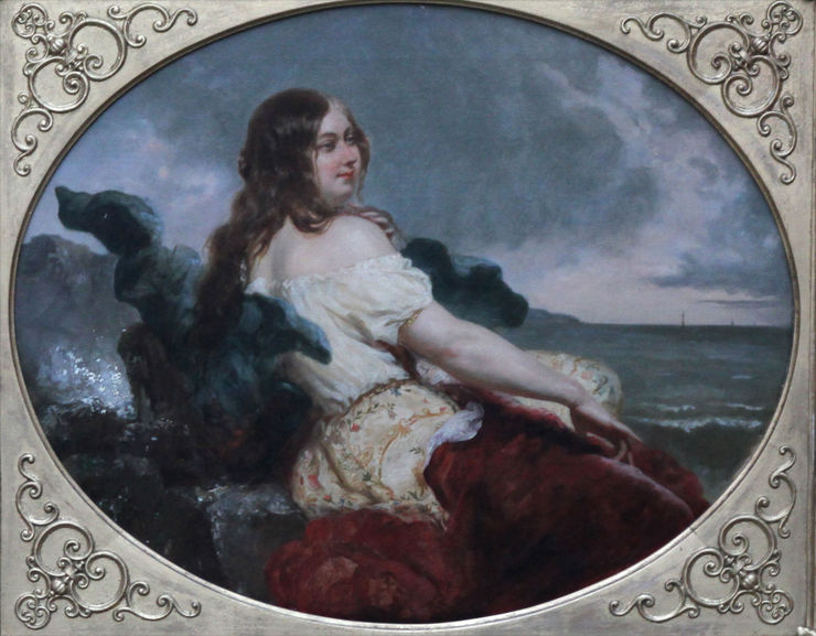 Woman at Seashore Portrait by William Edward Frost Richard Taylor Fine Art