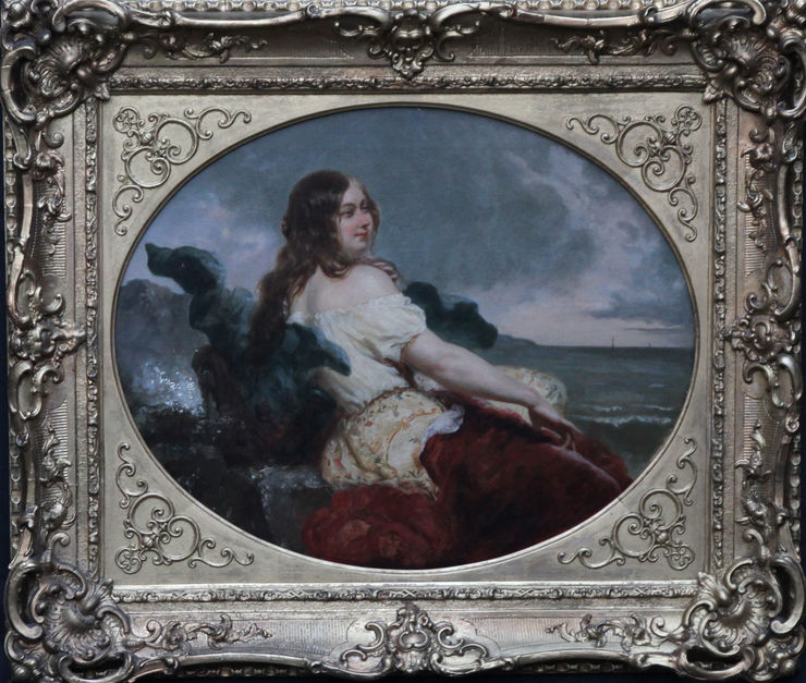 British Victorian Seashore Portrait by William Edward Frostat  Richard Taylor Fine Art