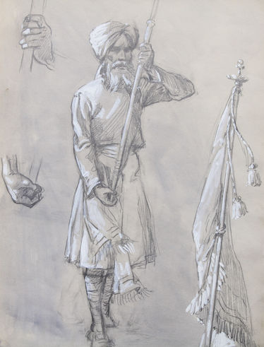 Portrait of a Sikh Soldier