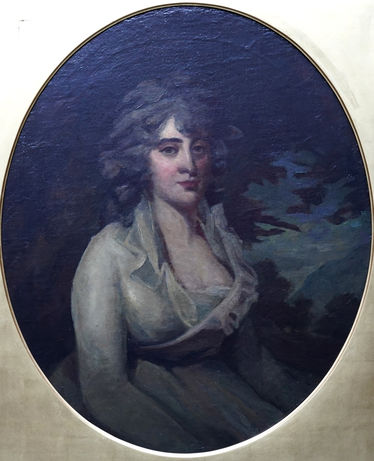 Portrait of a Seated Lady in White Dress