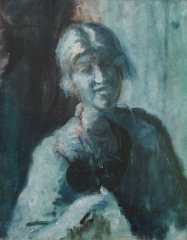 Blue Period Portrait of a Lady