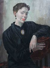 ../Forties Portrait of a Lady by A S Finlayson Richard Taylor Fine Art