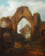 Abbey Ruins at  Haughmond Victorian oil painting Richard Taylor Fine Art
