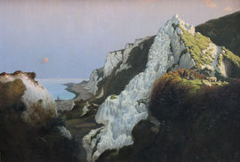 Over the Sea British Cornish Art Marine Seascape by  Algernon Talmage Richard Taylor Fine Art