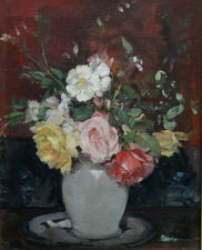 alice mary burton - floral still life  - richard taylor fine art