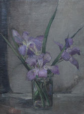 alice mary burton - purple irises -  richard taylor fine art
