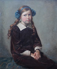 Scottish 1914 Portrait of a Young Girl by Allan Sutherland Richard Taylor Fine Art