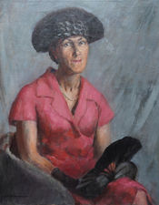 British 20's Female Portrait by Alys Woodman Richard Taylor Fine Art