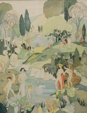 ../The Bathers Art Deco by Ann Hayward  Richard Taylor Fine Art