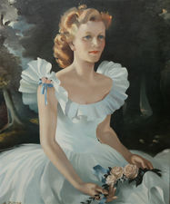 Scottish 50's Female Portrait by Anna Zinkeisen Richard Taylor Fine Art