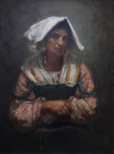Roma Lady Jebsa by Annie Louisa Swynnerton at Richard Taylor Fine Art