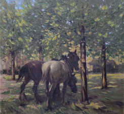 Impressionist Portrait of Horses by Arthur Spooner Richard Taylor Fine Art