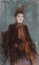 Portrait of a Victorian Lady by Arthur Hacker Richard Taylor Fine Art