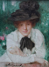 Portrait of an Edwardian Lady by Arthur Hacker Richard Taylor Fine Art