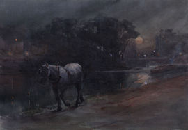 arthur hopkins canal horses -richard taylor fine art