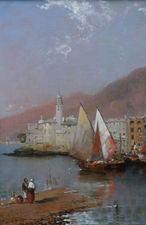 Camogli Italian Riviera by Arthur Meadows Richard Taylor Fine Art